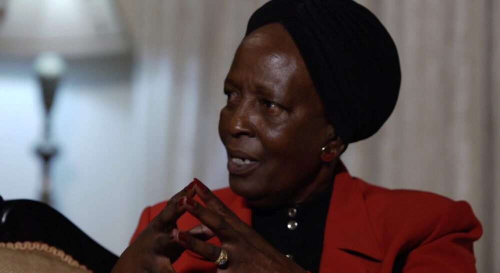 women's pioneer mrs jane kiano during a when interview with david roy in nairobi kenya