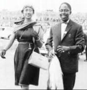 Mrs Jane Kiano wit her late husband Dr Julius Gikonyo Kiano
